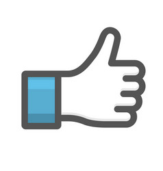 Like hand sign - thumb up gesture icon vector