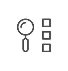 list search line icon vector image