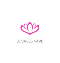 lotus flower beauty nature logo vector image