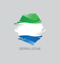 map of sierra leone vector image