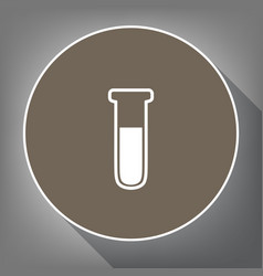 medical tube icon laboratory glass sign vector image