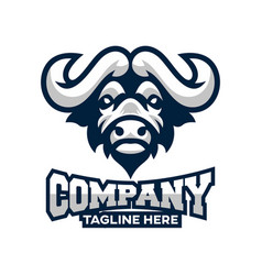 modern african buffalo logo vector image