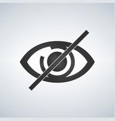 no eye prohibition sign no look forbidden symbol vector image