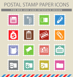 Office simple icons vector