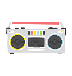 Old school cassette player cartoon hand drawn vector
