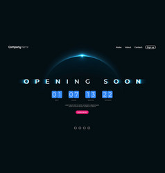 opening soon flip countdown clock counter timer vector image