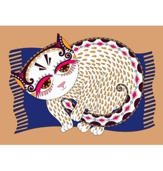original of decorative cat vector image