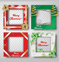 Paper art and craft of christmas border frame vector