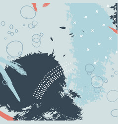 Pastel blue tender brush stroke pattern minimal vector