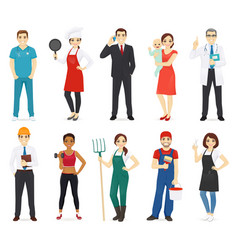 people profession collection vector image