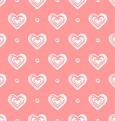 Pink seamless grunge hearts pattern vector image