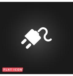 Power cord flat icon vector