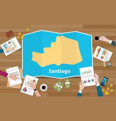 Santiago philippine asia city region economy vector
