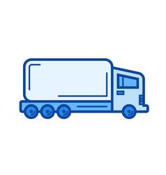 semi-truck line icon vector image