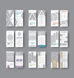 set dl flyers with different geometric shapes vector image