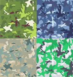 Set of camouflage military background seamless vector