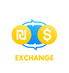 Shekel to dollar exchange vector