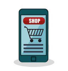 shopping online e-commerce icon vector image