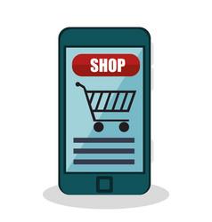 Shopping online e-commerce icon vector