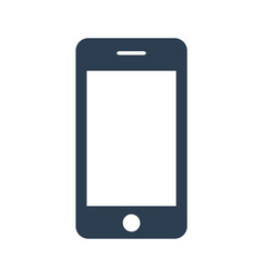 smartphone icon on white background vector image