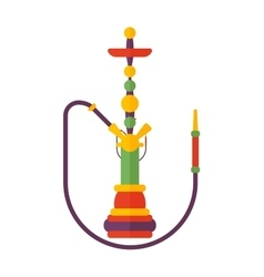 Smoke hookah flat isolated on vector image