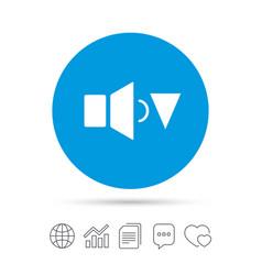 speaker low volume sign icon sound symbol vector image