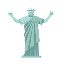 Statue of liberty is surprised astonished vector