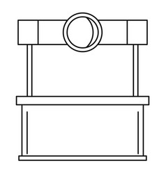 street kiosk icon outline style vector image