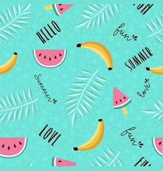 Summer fun seamless pattern tropical fruit vector