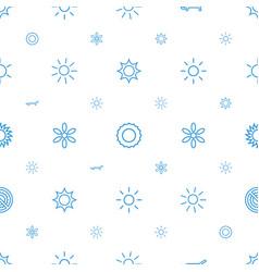 sunshine icons pattern seamless white background vector image