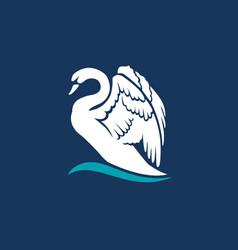 swan logo sign emblem-16 vector image