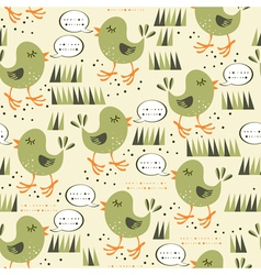 Talking brids pattern vector