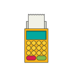 terminal flat icon vector image