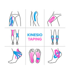 the kinesio taping vector image