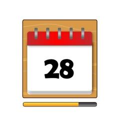 The Twenty-eight days on the calendar vector image