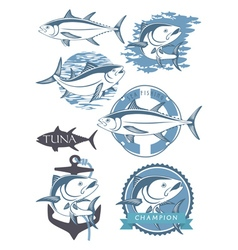 topic tuna vector image