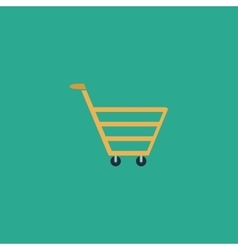 trolley market flat icon vector image