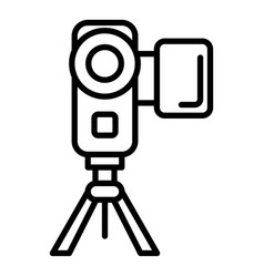 video camera icon outline style vector image
