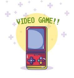 videogame retro console vector image