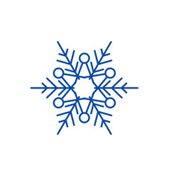 winter snowflake line icon concept winter vector image