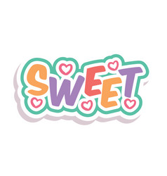 Word text rainbow sweet image vector