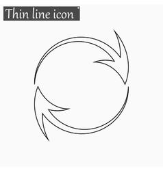 Arrow icon Style thin line vector image vector image
