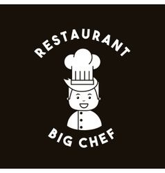 big chef restaurant menu vector image vector image