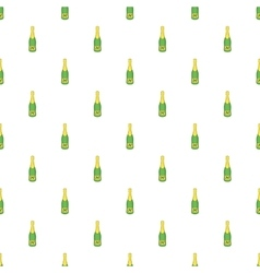 Bottle of champagne pattern cartoon style vector