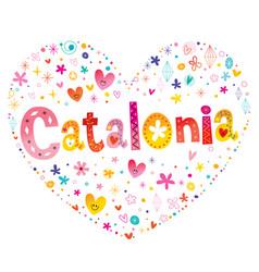 catalonia autonomous community of spain heart shap vector image vector image