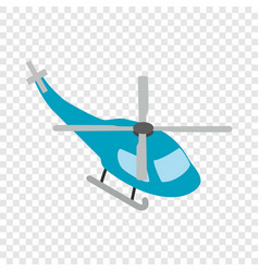 helicopter isometric icon vector image