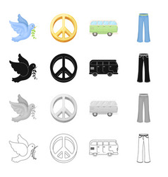 pigeons symbol world and other web icon in vector image vector image
