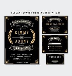 Unique Luxury Wedding Invitations Template vector image