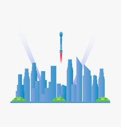 future city landscape with skyscrapers vector image