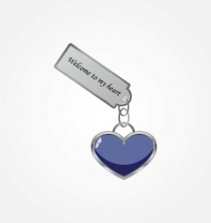 heart with tag vector image